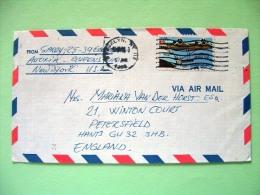 USA 1988 Cover Brooklyn To England - Plane Air Mail - Etats-Unis