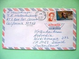 USA 1988 Cover Salinas To Switzerland - Margaret Mitchel - Jumpero Serra - Church - Etats-Unis