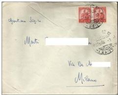1950 Lettera Viaggiata: Spedita Da Lecce Il 27-10-50 Per Milano - 6. 1946-.. Repubblica