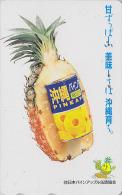 Télécarte Japon - Fruit ANANAS - PINEAPPLE Fruits Japan Phonecard - Obst Telefonkarte - 114 - Lebensmittel