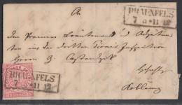 NDP Brief EF Minr.16 Braunfels 7.5.1869 Mit Inhalt Gel. Nach Koblenz - Norddeutscher Postbezirk