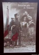 """Patriotique - Militaria 14/18 - """" Sous Les Plis Du Drapeau..Soeurs D'Alsace Lorraine.."""" - Soldats , Drapeau,  Femmes - Guerre 1914-18"""