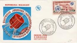 1964,  LETTRE FDC MADAGASCAR OMM METEO/5380 - Madagascar (1960-...)
