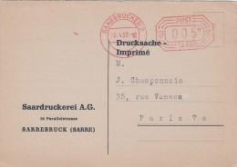 1950 SAAR,  IMPRIME,  ALLEMAGNE, SAARBRUCKEN , 5c /5389 - Covers & Documents