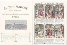 Chromo  Recto Et Verso - La Biche Au Bois   Excellent état Très Frais - Au Bon Marché