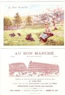 Chromo  Recto Et Verso - AU BON MARCHE 16cmX10cm  Garde Des Dindons     Excellent état Très Frais (scan Difficile) - Au Bon Marché