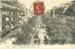 75 CPA Paris Boulevard Montmartre Nimation Commerces - Sin Clasificación