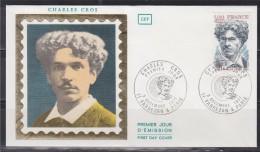 = Enveloppe Charles Cros Centenaire Du Phonographe 1er Jour Paris & 11 Fabrezan 03 12 77 N°1956 - Célébrités