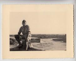Tchad - Fort Lamy - Photo originale - Un soldat - Format 11.8 x 9 cm