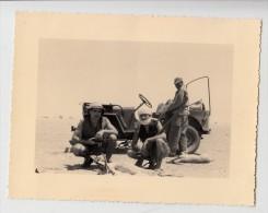 Tchad - Fort Lamy - Photo originale - Chasse � l'antilope (Jeep) - Format 11.8 x 9 cm