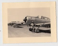 Tchad - Fort Lamy - Photo originale - A�rodrome Militaire, avions de chasse - Format 11.8 x 9 cm (avion)