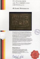 Edition Raritäten In Gold Deutschland 1982 BRD-Präsidenten Block 18 ** 50€ Mit 23 Karat Feingold Porträts Sheet Germany - BRD
