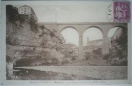 C. Postale : 34 - MINERVE - La Cesse à La Sortie Du Tunnel Naturel (1933) - France