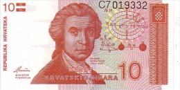CROATIE  10 Dinara  Emission De 1991   Pick 18        ***** BILLET  NEUF ***** - Croatia