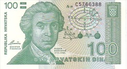 CROATIE  100 Dinara  Emission De 1991   Pick 20 A        ***** BILLET  NEUF ***** - Croatia