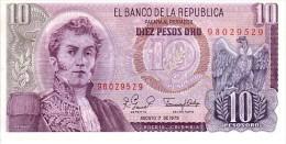 COLOMBIE  10 Pesos De Oro  Daté Du 7 Aout 1980    Pick 407 G      ***** BILLET  NEUF ***** - Colombie