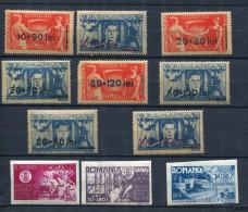 Romania 1945 Accumulation MH Overprint Perf, Imperf - 1918-1948 Ferdinand, Charles II & Michael