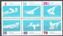 DDR 1962 MiNr.907-912 Sechserblock ** Postfrisch  ( 1715 ) - Ungebraucht