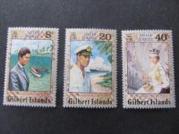 GILBERT ISLANDS -1977 Jubilee - Scott 293/295, Mi 288/290, YV 41/43, SG 48/50 - Isole Gilbert Ed Ellice (...-1979)