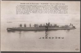 """62----CALAIS--Derniere Sortie Du Sous Marin """"PLUVIOSE"""" Dans Les Jetées De Calais--voir Légende - Calais"""