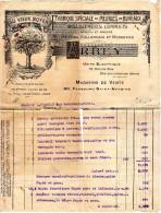 FACTURE FABRIQUE SPECIALE De MEUBLES De BUREAUX  Au Vieux Noyer  Paris  Ameublement   B - Petits Métiers