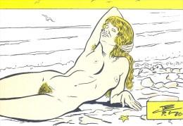 """C. BERG: Les Plages """"Le Guilvinec"""" [ Nu Dessin Plage Baigneuse ] AE095 - Autres Illustrateurs"""