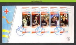 Nbk118fb KONINGSHUIS KONINGIN BEATRIX NELSON MANDELA QUEEN BEATRIX ROYALTY ARUBA 2005 FDC # - Royalties, Royals