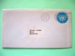 United Nations - New York 1953 Stamped Enveloppe To Mabel - 3c - Emblem - New-York - Siège De L'ONU