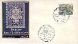 FDC  619  Nationale Briefmarkenausstellung SABRIA 70, Saarbrücken 1 - [7] Federal Republic