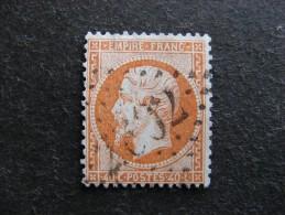 A). TB N°23 , Oblitéré. Cote = 15 Euros. - 1862 Napoleon III