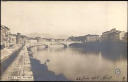 Cp Pisa Toscana, Lung' Arno Regio, Brücke über Den Fluss - Andere