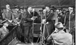 PHOTO 14/9 CM...LE GENERAL LORS.... ,COLLEGE DE REIMS..LE 7 MAI 1945...VOIR DOS... - Guerre, Militaire