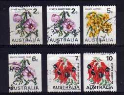 Australia - 1970/75 - Coil Stamps/Flowers (Part Set) - Used - 1966-79 Elizabeth II