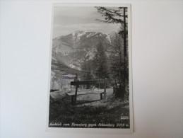 AK / Fotokarte 1936 Ausblick Vom Kreuzberg Gegen Schneeberg 2075m Stempel Vom Hotel! Franz Schneidhofer - Neunkirchen