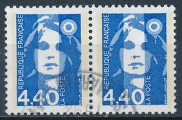 France - Marianne De Briat 4,40 Bleu YT 2822 Obl. (paire Horizontale) - 1989-96 Marianne Du Bicentenaire