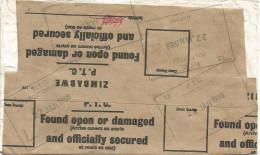 Zimbabwe 1988 Harare PTC Post Office Damaged And Resealed Cover - Zimbabwe (1980-...)
