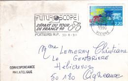Poitiers 1990 - Flamme Tour De France - Futuroscope - Cyclisme Vélo - Sellados Mecánicos (Publicitario)
