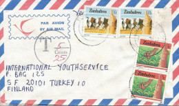 Zimbabwe 1987 Bulawayo Taxed 30 Mm Circle With T And Line With Cents Underfranked Cover - Zimbabwe (1980-...)