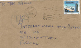 Zimbabwe 1989 Mabelreis  Taxed 32 Mm Circle With T And Line Only Underfranked Cover - Zimbabwe (1980-...)