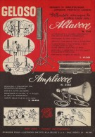 # AMPLIFIERS GELOSO ITALY 1950s Advert Pubblicità Publicitè Reklame Amplifier Amplificatore Verstarker Amplificador - Amplificatori