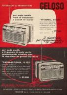 # RADIO TRANSISTORS GELOSO ITALY 1950s Advert Pubblicità Publicitè Reklame Publicidad Radio TV Music Receiver L.39500 - Libri & Schemi