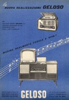 # RADIO TV AMPLIFIERS GELOSO ITALY 1950s Advert Pubblicità Publicitè Reklame Publicidad Radio TV Vesrtarker Televisione - Libri & Schemi