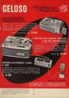 # RECORDER GELOSO ITALY 1950s Advert Pubblicità Publicitè Reklame Radio TV Registratore Recorder Grabadora Enregistreur - Libri & Schemi