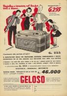 # RECORDER GELOSO ITALY 1950s Advert Pubblicità Publicitè Reklame Radio TV Registratore Recorder Grabadora Enregistreur - Literature & Schemes