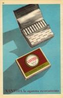 # XANTHIA CIGARETTES Belgique Belgie 1950s Advert Pubblicità Publicitè Reklame Sigarette Cigarrillos Zigaretten Tabak - Cigarettes - Accessoires