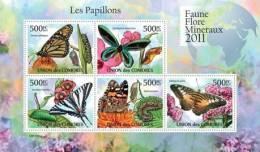 cm11101a Comores 2011 Butterflies I s/s Flower