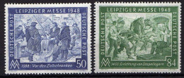 Gemeinschaftsausgaben, 1948, Mi 967-968 *, Leipziger Messe [160314IX] @ - Zone AAS