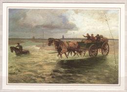 Wattenpost Zwischen Duhnen Und Der Insel Neuwerk Um 1905 , Ölgemälde Von R. Eschke , ( JPK 04/04 ) - Post & Briefboten