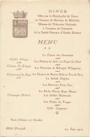 Menu - Le Havre , En L'Honneur Du Ministre - 1933 - Menus