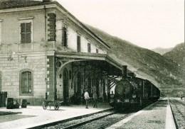TENDE (06) Train Des Ferrovia Dello Stato  En Gare CPM Reproduction D'un Cliché Ancien - Trains